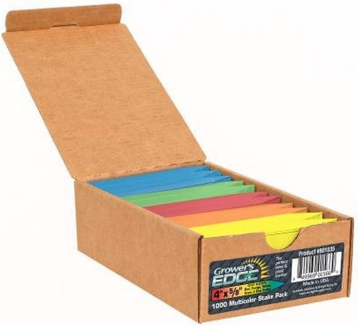 Grower's Edge Plant Stake Labels - Multicolor (1000/Box)