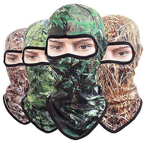 TClian Camouflage Balaclava Full Face Mask Ninja Hood Millitary Camo Tactical Airsoft Paintball Helmet liner Gear Hunting Motorcycle Cycling Face Masks 3D Prints (Jungle)