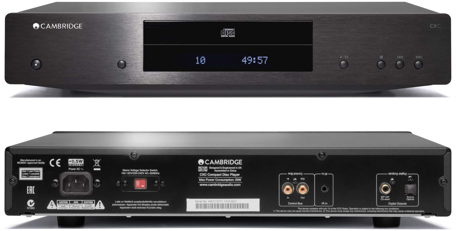 Cambridge Audio CXC CD Player Black 115V CU/JP