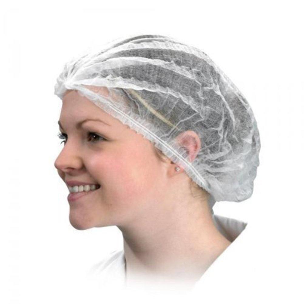 ROSENICE Cappuccio in tessuto non tessuto monouso 18 pollici per la cottura bagno da bagno 100pcs