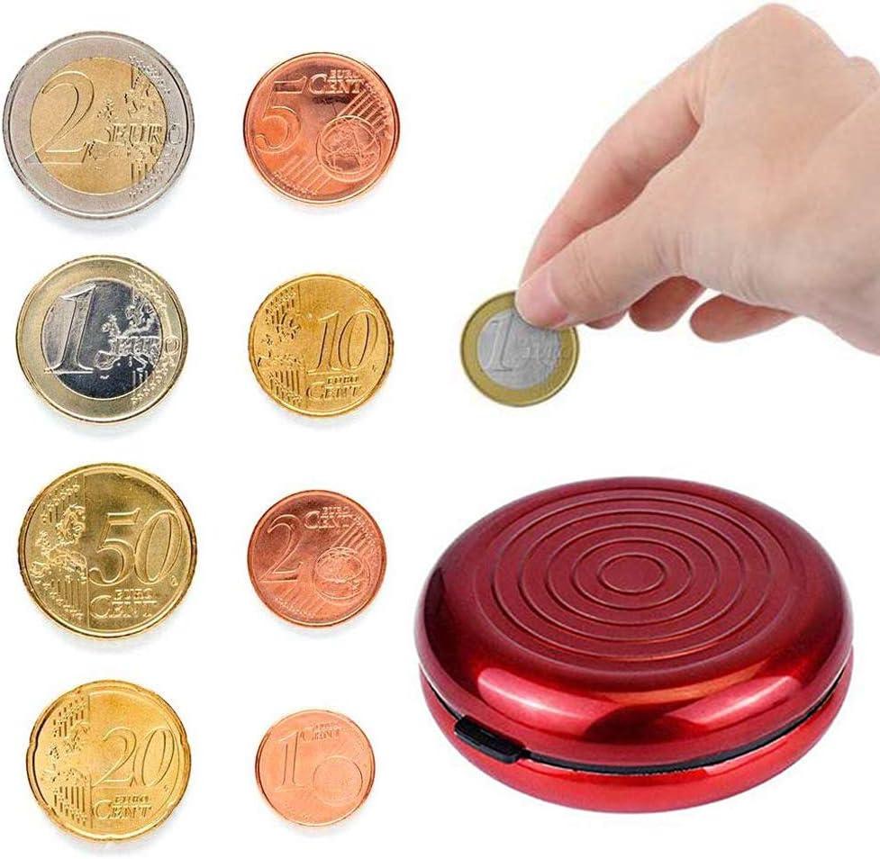 iPobie Caja de Monedas de Euro, Caja de Almacenamiento para ...