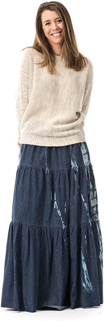 MYWAY Falda Larga Denim Tie Dye: Amazon.es: Ropa y accesorios