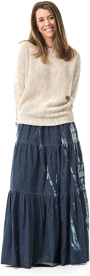 MYWAY Falda Larga Denim Tie Dye: Amazon.es: Ropa y accesorios