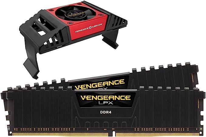 Corsair Vengeance LPX Memorie per Desktop a Elevate Prestazioni con Airflow Fan, 16 GB (2 X 8 GB), DDR4, 4600 MHz, C19 XMP 2.0, Nero