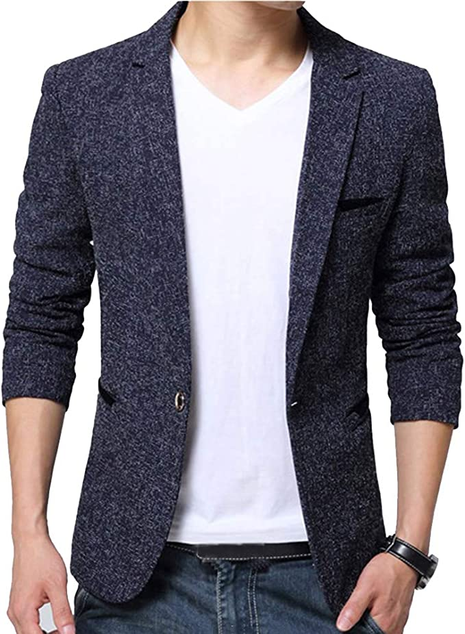 Guiran Herren Anzugjacke Casual Freizeit Sakko Business Blazer Slim Fit