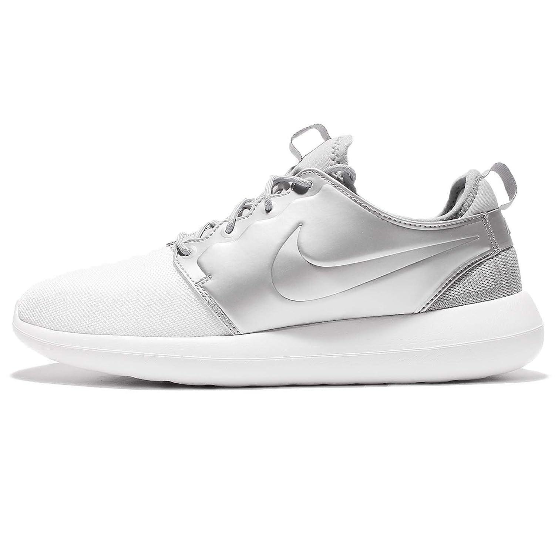 NIKE Men's Roshe Two Running Shoe B071WLQFSG 13 D(M) US|White/White-metallic Silver
