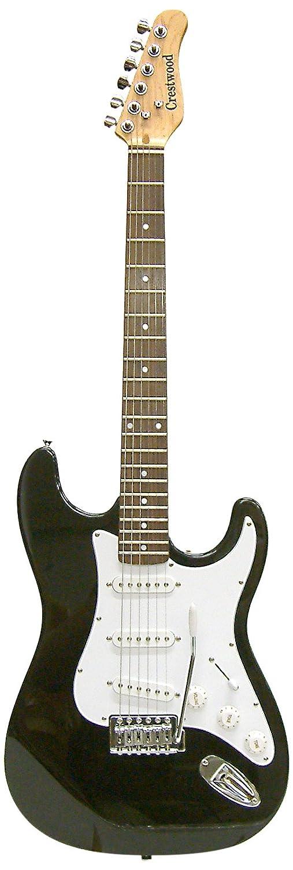 Crestwood st920lhbk sólido cuerpo para guitarra eléctrica, para zurdos, color negro: Amazon.es: Instrumentos musicales