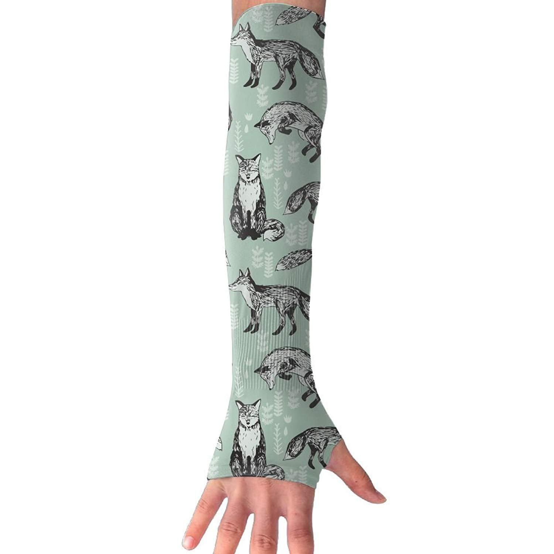 Unisex Fox Exercise Sunscreen Outdoor Travel Arm Warmer Long Sleeves Glove