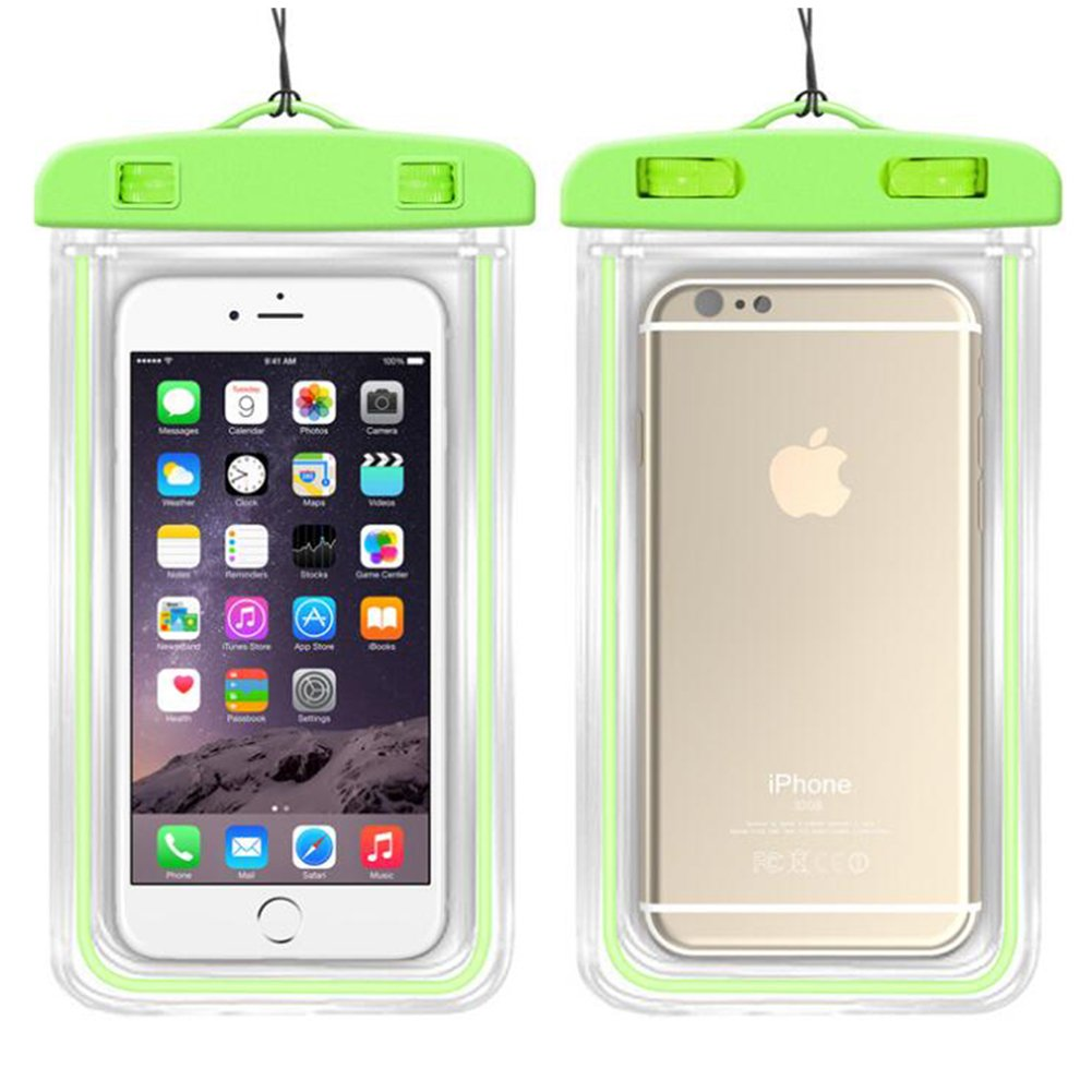 Lisli Universal Waterproof Case,Dry Pouch Bag for iPhone 6S,6,6S Plus,Samsung Galaxy S7,S6 Edge, S6, S5, S4,Note 5, 4, HTC, LG,Nokia up to 6.0'' (Green)