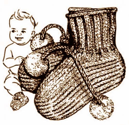 Knit Perky Baby Booties Shoes Slippers Knitting Pattern ()