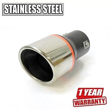 Boloromo - Embellecedor de tubo de escape con silenciador de estilo deportivo YFX-0079 de acero inoxidable, acabado cromado: Amazon.es: Coche y moto