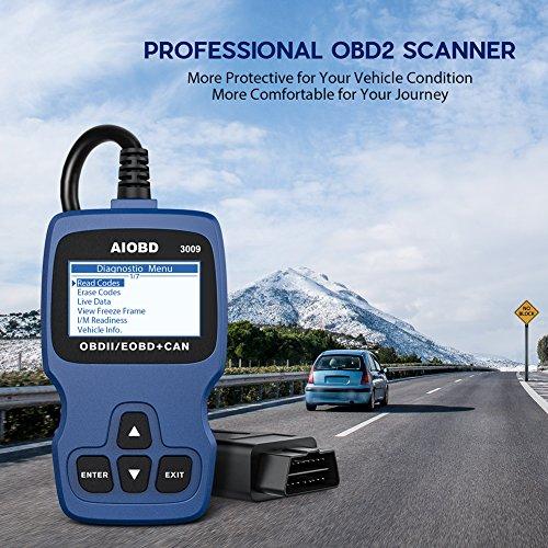 AIOBD OBD2 Code Reader, Professional Car OBD II Scanner Auto Diagnostic  Fault Code Reader Automotive Check Engine Light Diagnostic Scan Tool