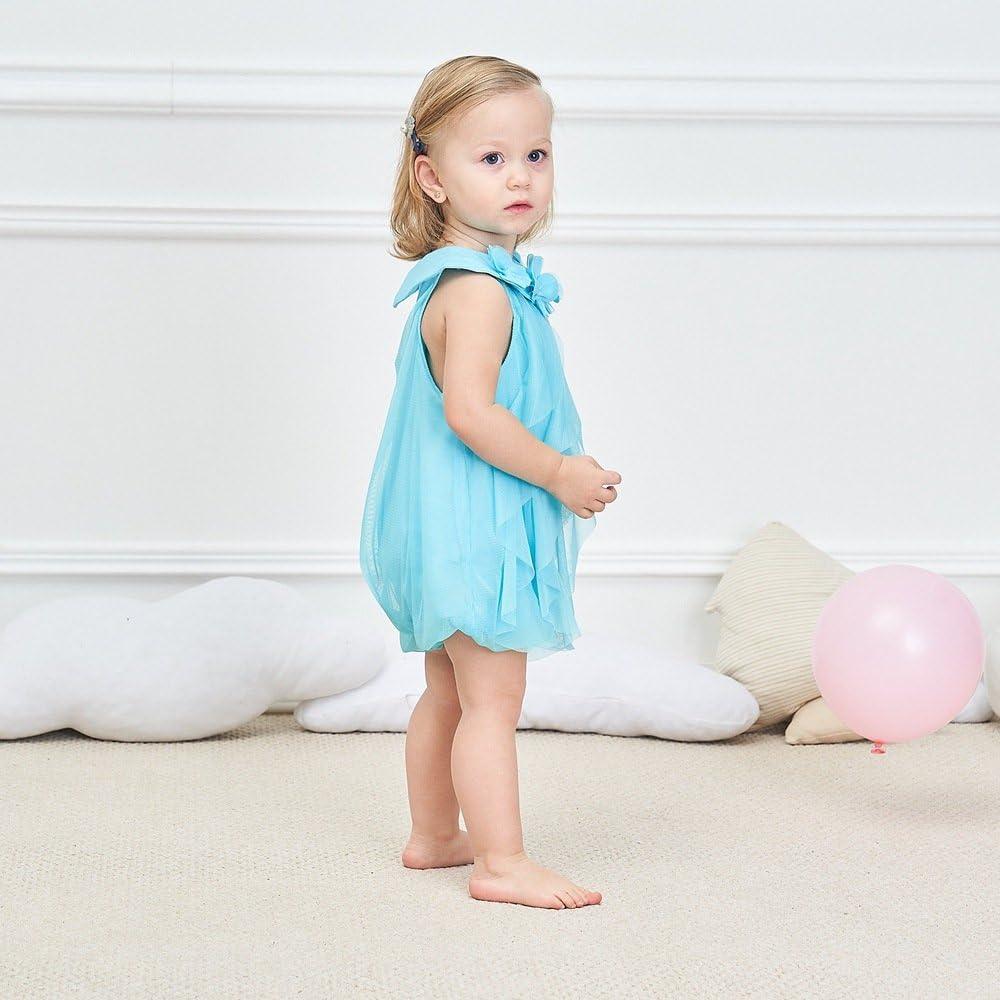 WZSYGDTC 0-24 Months Baby Flower Girl Dress One-Piece Romper Jumpsuit Dresses