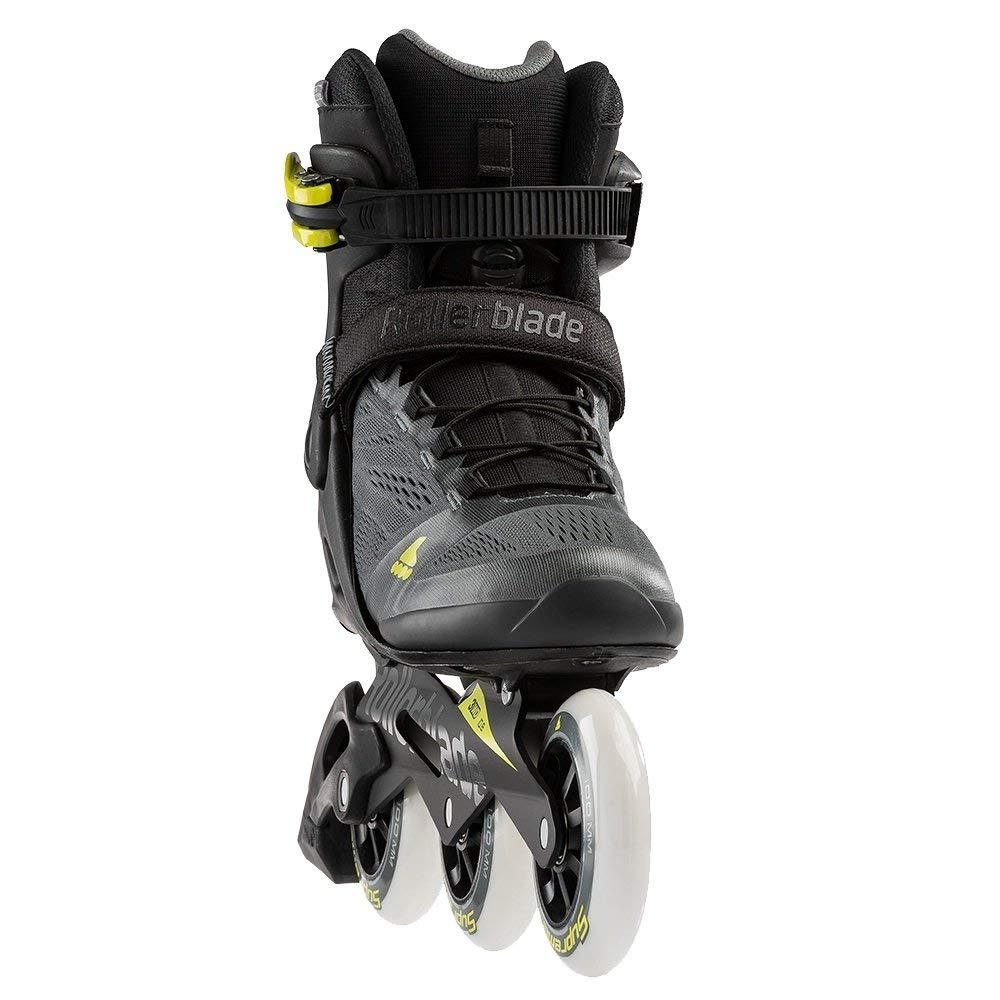 Rollerblade Macroblade 100 3Wd Men's Adult Fitness Inline Skate, Anthracite/Neon Yellow, Medium 10.5