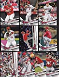 Los Angeles Angels 2017 Topps Complete Mint Hand Collated Team Set with Mike Trout and Albert Pujols Plus