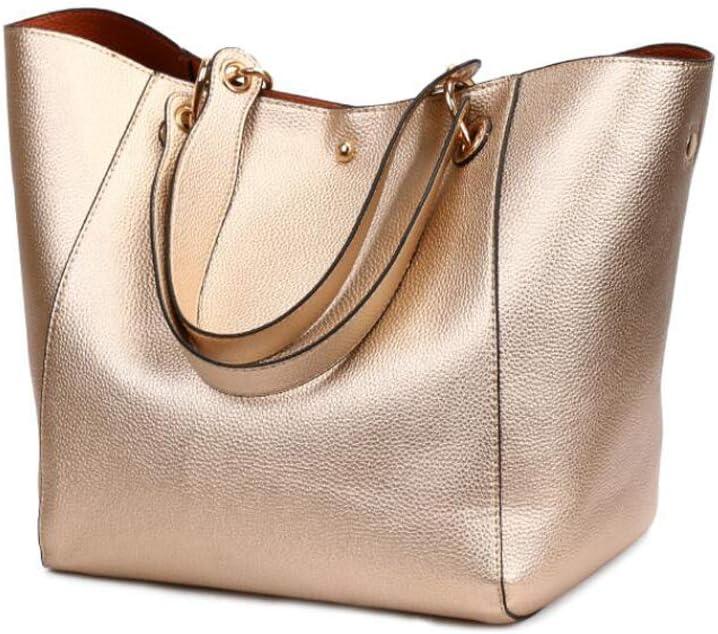SON-bag Bolso de Cuero para Mujer Diseñador Tote Monedero Hombro Bolsas de asa Superior con Cremallera Monedero