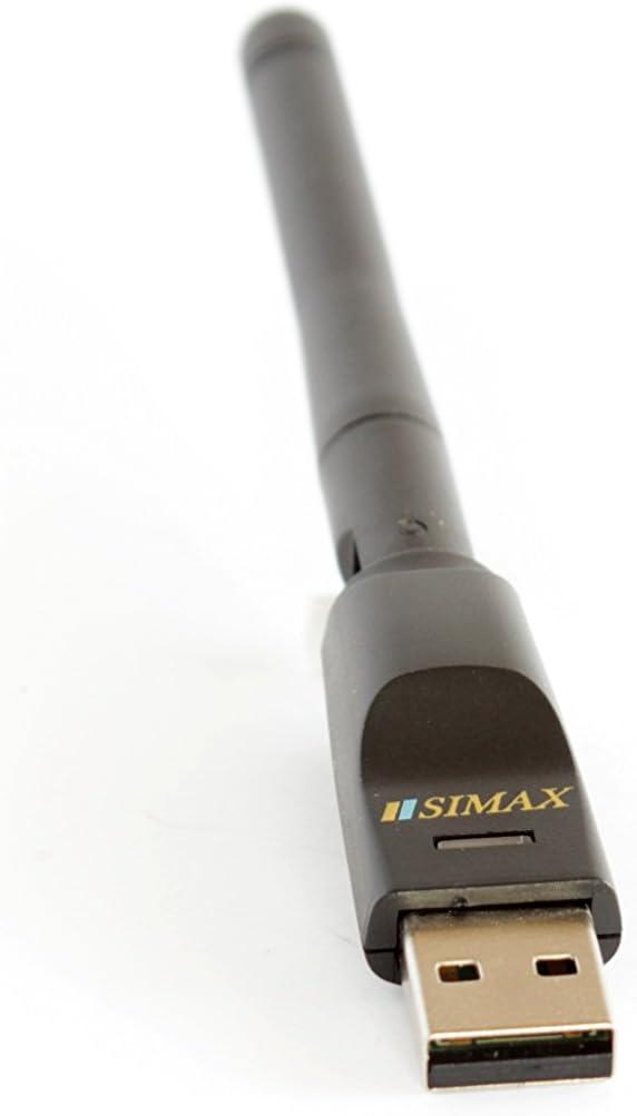 Qviart Iris 322 Fonestar Engel 254 etc. 256 SatIntegral Sirve para MAG 250 324 y para la mayor/ía de receptores satelites como Freesat 5dB Adaptador USB antena WiFi RT5370 SIMAX GT Media