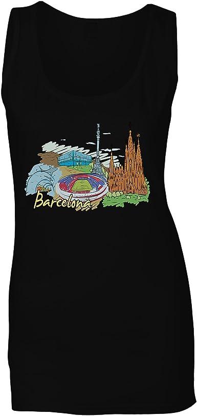 Arte ciudad independencia españa barcelona camiseta sin mangas mujer ss89ft: Amazon.es: Ropa y accesorios