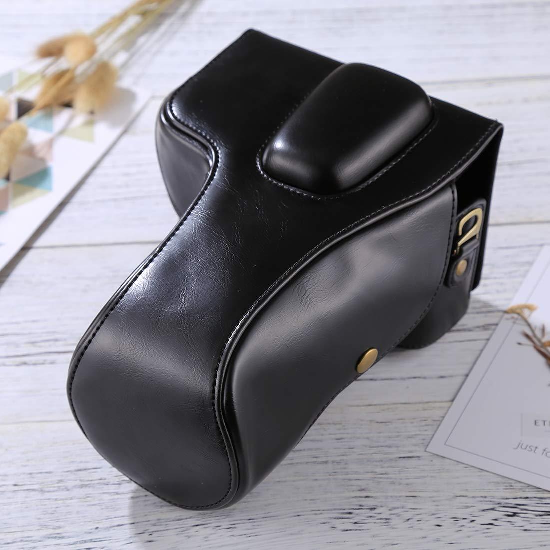 Diffomatealliance Bag,case&Straps Nikon D5300 / D5200 / D5100用GuoBomate勝利バッグ、ケース、ストラップフルボディカメラPUレザーケースバッグ(18-55mm / 18-105mm / 18-140mmレンズ)(ブラック) (Color : Black) B07QZMJBHQ