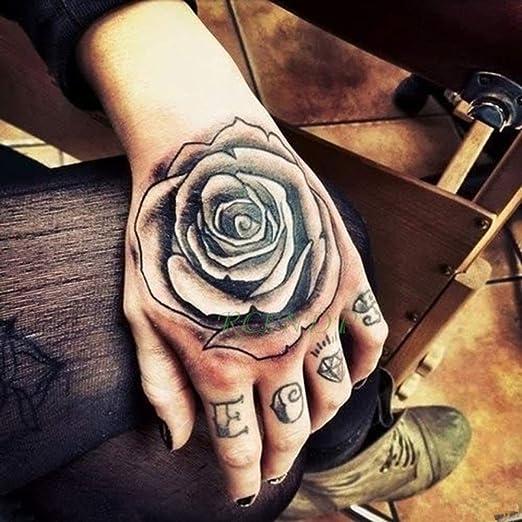 tzxdbh Etiqueta engomada del Tatuaje a Prueba de Agua Rose Flower ...