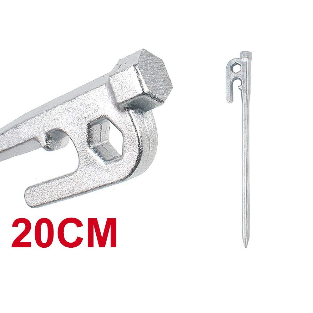 Zconmotarich 高耐久 ステンレススチール アウトドア キャンプ テント 杭 釘 20/25/30cm 30cm シルバー(Silver) B07PQDNMP8