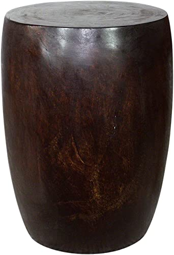 Haussmann Merlot 14 in D Top x 15 in D x 20 in H Acacia Wood Dark Walnut Oil Fin