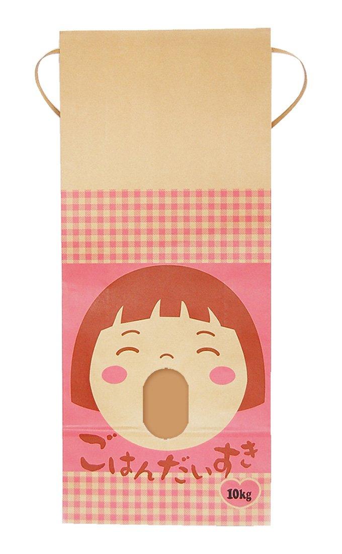 マルタカ クラフト ごはんだいすき(銘柄なし) 10kg用紐付 1ケース(300枚入) KH-0022 B077GKHX7D 10kg用米袋|1ケース(300枚入) 1ケース(300枚入) 10kg用米袋