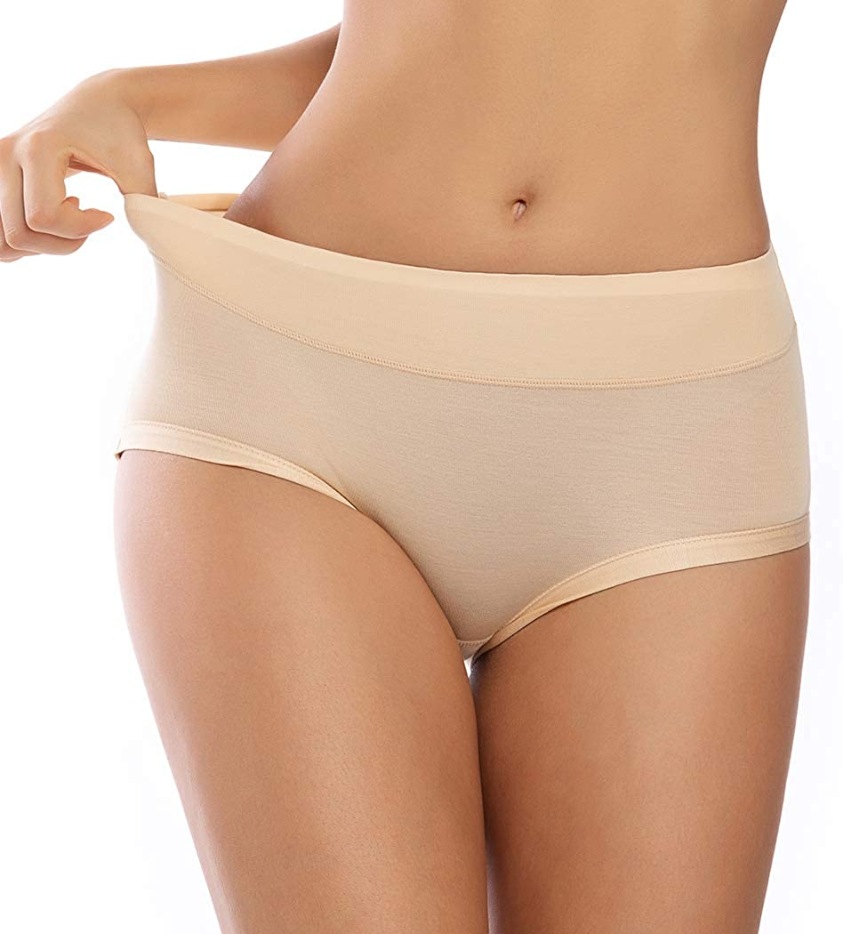 WOWENY Invisible Best Fitting Hipster Panties for Women Quick Dry Breathable Travel Underwear 2 Pack