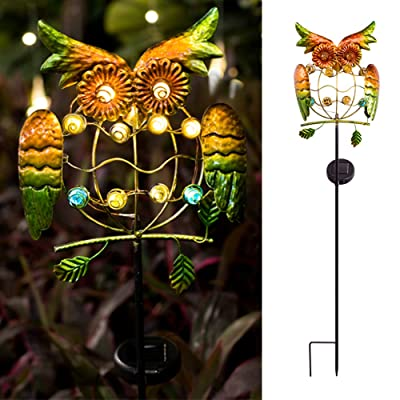 YaoLONG Garden Solar Lights Outdoor Solar Powered Stake Lights Metal OWL LED Decorative Garden Lights for Walkway, Pathway, Yard, Lawn : Garden & Outdoor