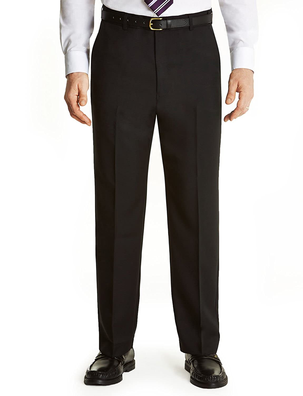 4975ad49978849 Farah Mens Flex Trouser Pants with Self-Adjusting Waistband: Amazon.co.uk:  Clothing
