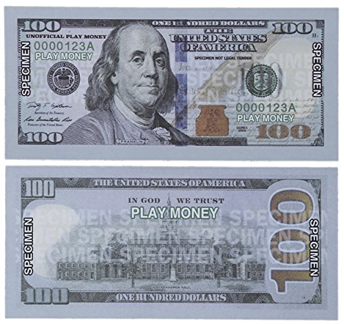 Paper Playing Money 100 One Hundred Dollar Bills