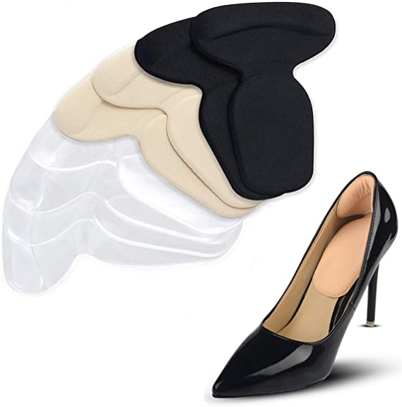 comprar 4 Pares T-forma Plantillas Silicona Gel Almohadillas, Mnioky Talonera para Protectores de Talón para Zapatos Planospara Mujeres Como para Hombres