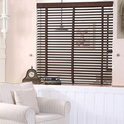 Solid Wood Horizontal Blinds,Roll Up Window Blinds And Shades Breathable  Shading Blinds Easy Install