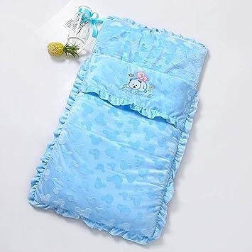 HONGREN Espesar El Saco De Dormir del Bebé Sobre El Saco De Dormir del Bebé De Algodón El Saco De Dormir Suave del Terciopelo del Bebé,Blue: Amazon.es: ...