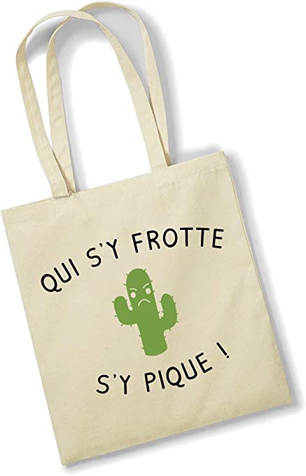 Bolsa de Amor Tote Bag – Quien frota con Cactus – Bolsa Divertida ...