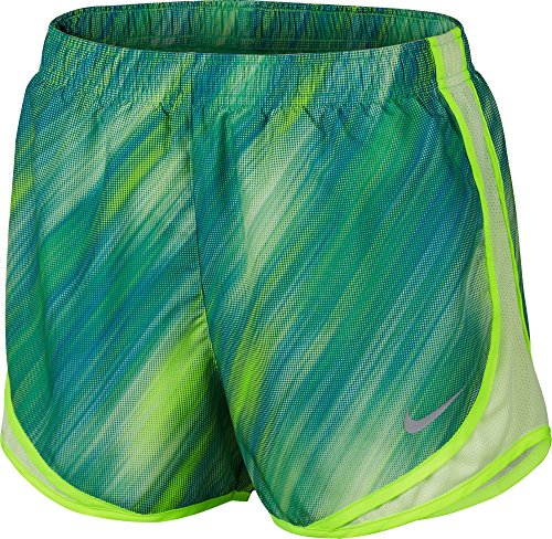 Nike Mujeres Moisture Wicking Colorblock Shorts Electro Grn / Barely V / Volt