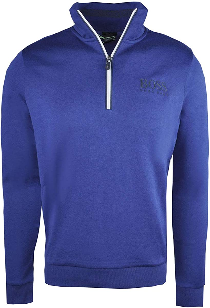 Hugo Boss Zip-Neck Sweatshirt Sweat 50392547 Dark Blue