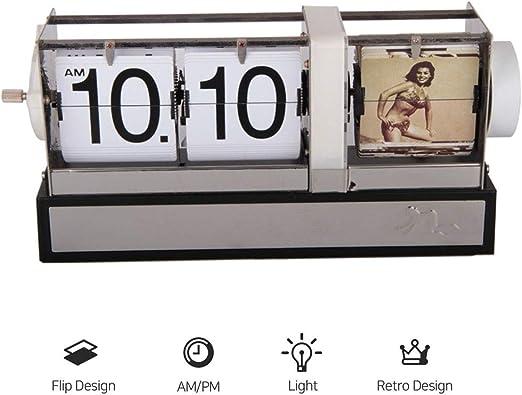 Flip Reloj Despertador, Vintage Classic Flip Reloj del Escritorio ...