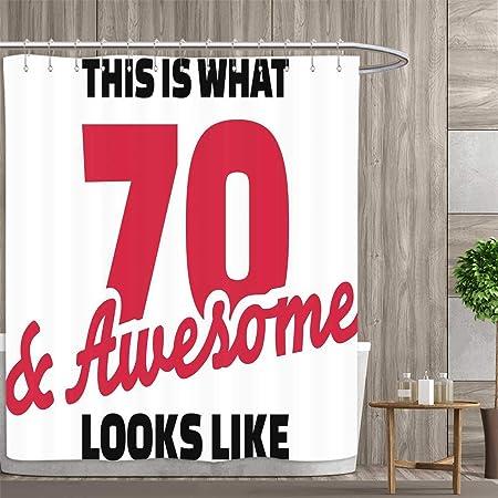 Anniutwo Cortina de Ducha 70 cumpleaños colección de Cheers ...
