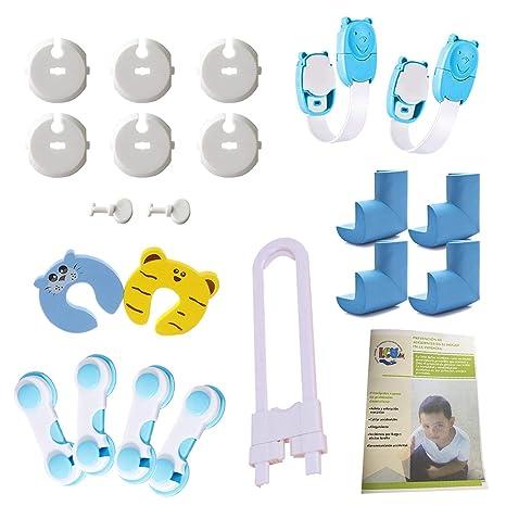 LCV™ Kit de Seguridad para Bebé - 22 Piezas | 6 Protectores de Enchufes