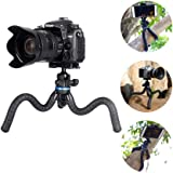 Mini Camera Tripod,Flexible Phone Tripod Smartphone Tripod Stand with Cell Phone Holder, Compatible withiPhone/Android Samsung, Mini Tripod Stand Holder for Camera GoPro/Mobile Cell Phone (Upgraded)