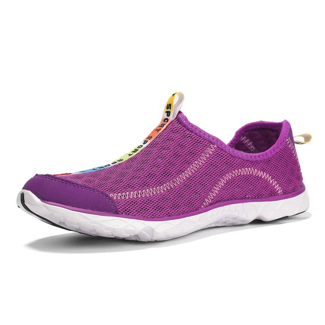 LOVEAP Women's and Men's Mesh Quick Drying Slip on Outdoor Water Shoes B07CT8SFGW men-11 US|Purple