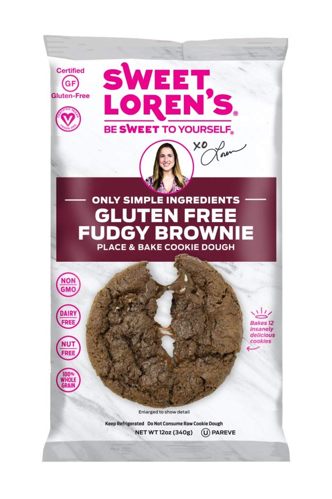 Sweet Lorens Only Simple Ingredients Gluten Free, Fudgy Brownie Place & Bake Cookie Dough, 12 Ounce (Pack of 6) by Sweet Lorens