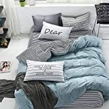 Bed and Pillow Sheets Bedding Comforter Set, Best Bed Sheets 100% Cotton, Teal Queen Size