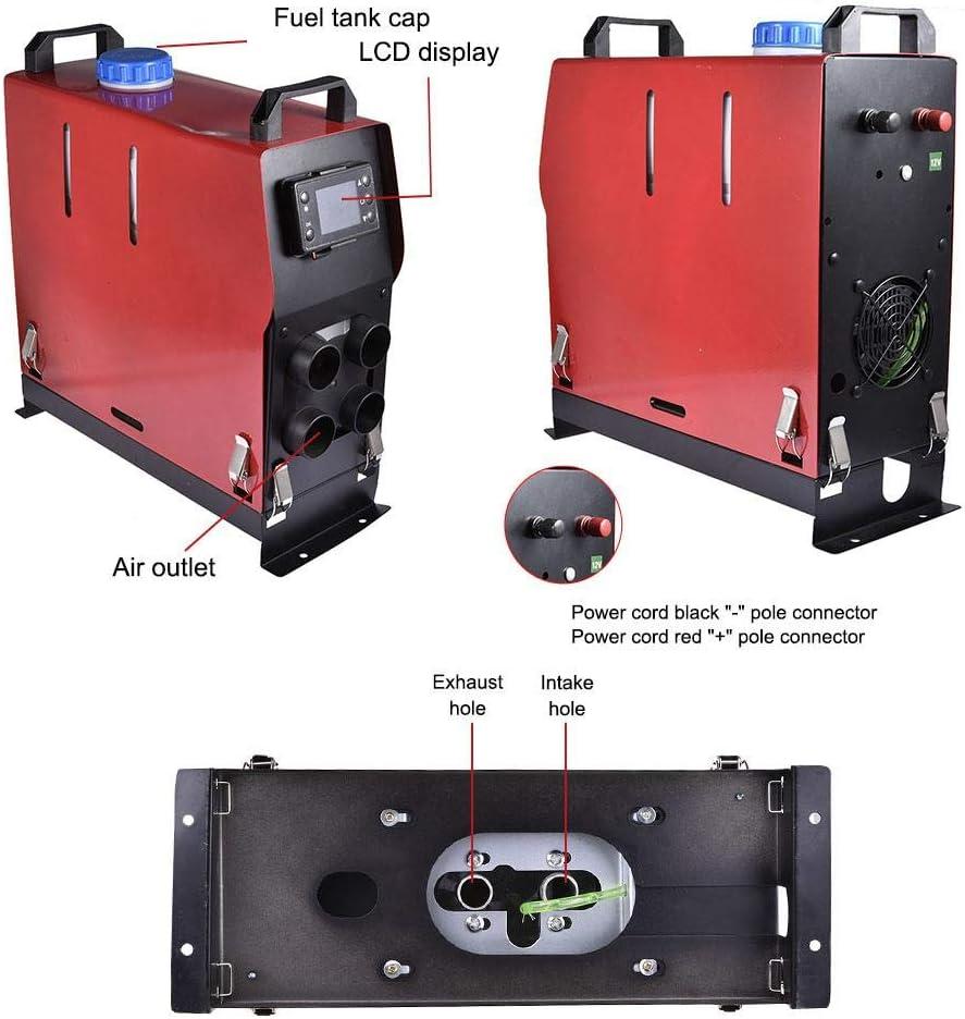 Finelyty Chauffage de Carburant Diesel dair de stationnement r/égl/é pour lautobus 5KW 12V 24V de Camion de Voiture