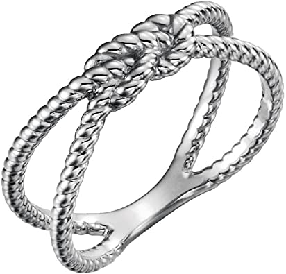 Bonyak Jewelry Sterling Silver Polished Knot Ring Size 8