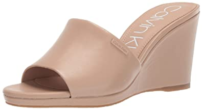 5b1f44453e Image Unavailable. Image not available for. Color: Calvin Klein Women's  Britta Wedge Sandal ...