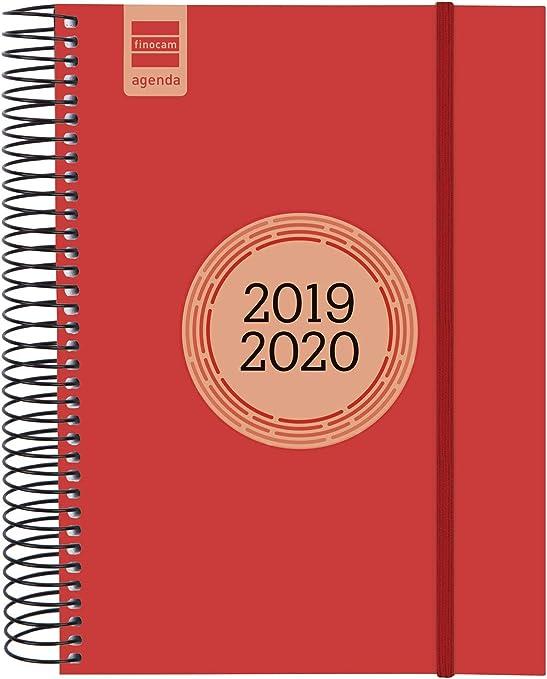 Finocam - Agenda 2019-2020 1 día página español Espir Label Rojo ...
