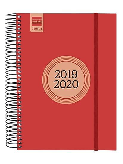 Finocam - Agenda 2019-2020 1 día página español Espir Label Rojo