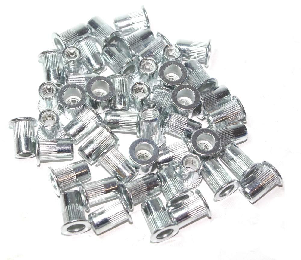 A-RM6 Surtido de tuercas remachables M6 aluminium 50 piezas